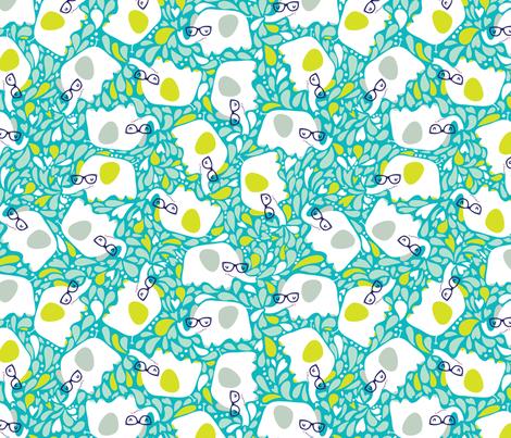 Happy Friends- Splashy Ellies fabric by cynthiafrenette on Spoonflower - custom fabric
