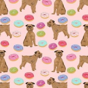 brussels griffon pink donuts fabric cute pink food kawaii cute pet dog fabric
