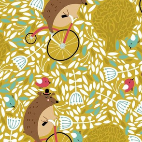 Happy Friends- Bicycling Bear and Birdie