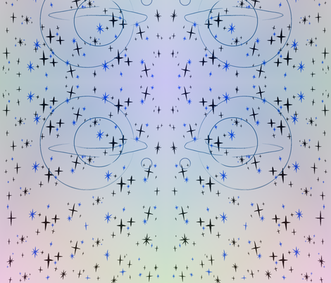 Saturn twinkle fabric by npc on Spoonflower - custom fabric