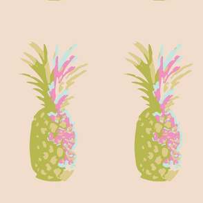 Pineapple techno print
