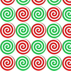 Christmas Candy Spiral Swirls