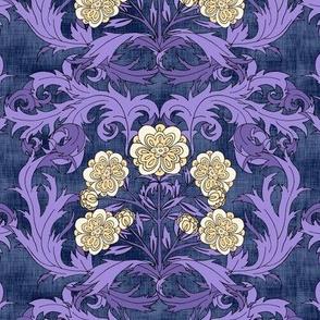 Acanthus Floral Purple