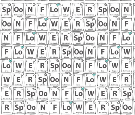Periodic Table of Spoonflower fabric by sew-me-a-garden on Spoonflower - custom fabric