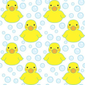 rubber ducks and bubbles