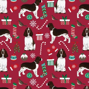 english springer spaniel christmas dogs fabric cute dog fabric cute xmas holiday christmas dogs fabric
