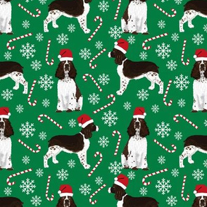 english springer spaniel santa paws cute christmas dogs dog christmas fabric candy cane peppermint candy cute dogs design
