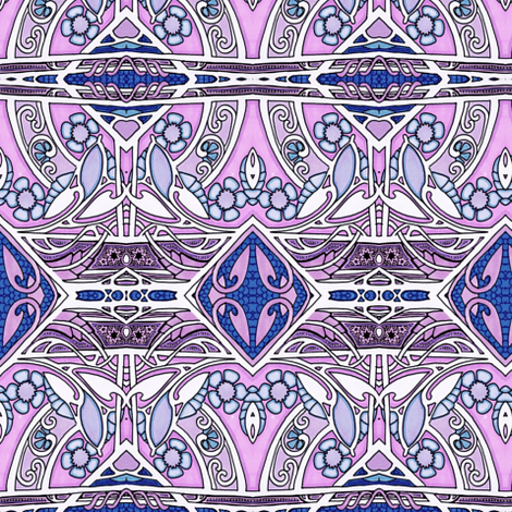 Twisted Up So Pink fabric by edsel2084 on Spoonflower - custom fabric