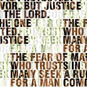 Proverbs 29:25 Fear-o-man