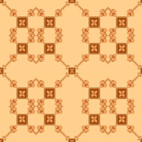 Spoonflower Trellis Double in Tan and Golden Brown