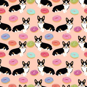 corgi tricolored donut fabric cute pastel dogs fabric cute dog design