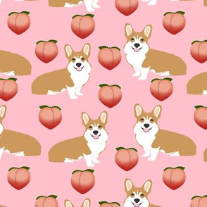 corgi peach emoji cute pink corgis fabric large corgis fabric cute dog design