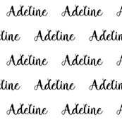 adeline custom name fabric cute girls font text names