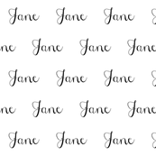 custom personalized name fabric cute font cursive custom name design