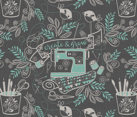 create and grow fabric by cjldesigns on Spoonflower - custom fabric