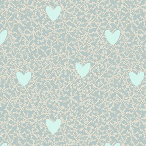 Snowflake-trees-pattern-aqua-light-blue