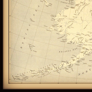 Alaska vintage map, large
