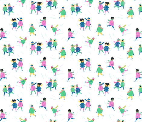 Ice Skating fabric by mayabeeillustrations on Spoonflower - custom fabric