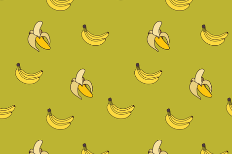 flat banana fabric by zepyur on Spoonflower - custom fabric