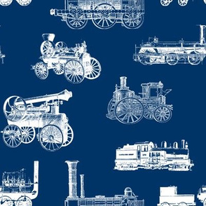 Antique Steam Engines on Navy // Large
