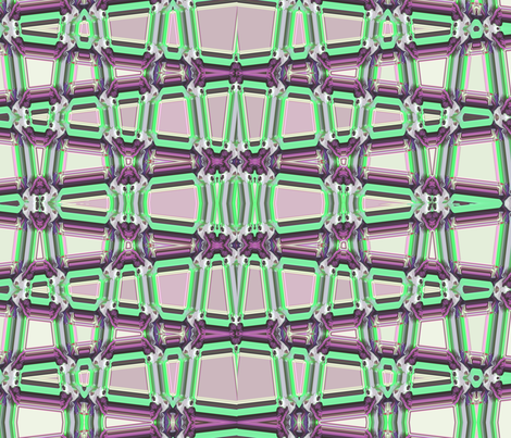 Geometrical Trellis in mauve and green, horizontal, large fabric by maryyx on Spoonflower - custom fabric