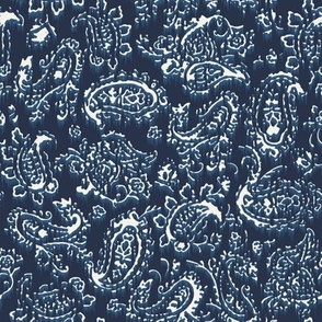 Beaten Paisley - Washed Navy