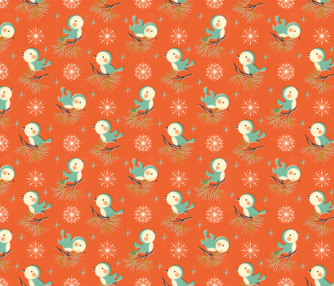 *New* Vintage Christmas - Smaller size! // by petite_circus fabric by petite_circus on Spoonflower - custom fabric