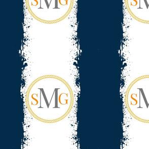 Tie Dye 12x12 in combo text gray M darkest navy orange Personalized SMG