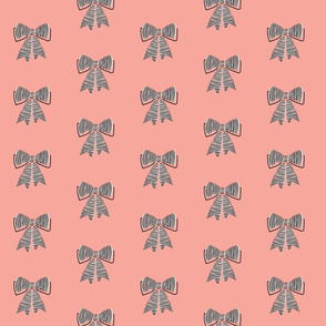 schoolgirl bows // pantone 55-2