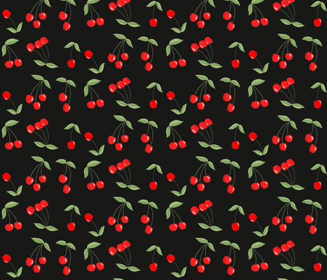 Black_Cherries fabric by ruby_ritz on Spoonflower - custom fabric