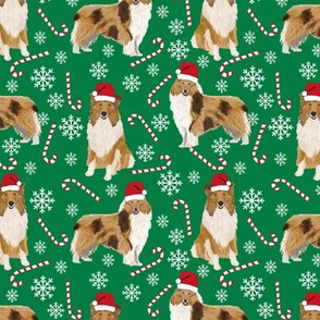 rough collie christmas fabric cute pet dog xmas holiday christmas design best christmas dogs fabric