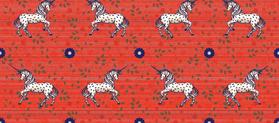 Christmas unicorn fabric by lucybaribeau on Spoonflower - custom fabric