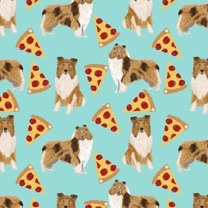 rough collie pizza fabric cute pizza design best dogs and pizza funny fabric cute dog design