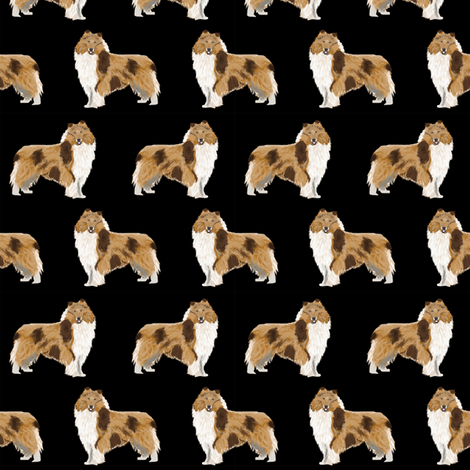 rough collie dog fabric cute rough collie print pattern for sewing quilters cute dog design fabric by petfriendly on Spoonflower - custom fabric