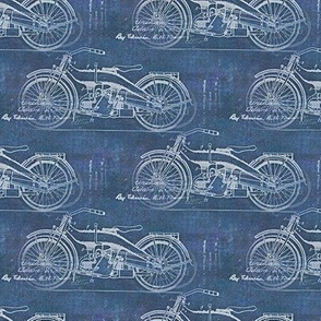 vintage motorcycle on blue