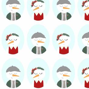 Snow Lad & Lady Gift Wrap