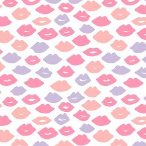 lips // pastel lips mini version cute lipstick pastel lipstick valentines lips fabric pink purple lipstick