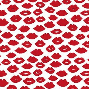lips // lipstick red lips cute red lipstick fabric valentines love design valentines pattern andrea lauren design andrea lauren fabric