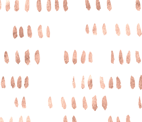 Hand Painted Brush Hash Mark in Rose Gold fabric by thejonellejones on Spoonflower - custom fabric