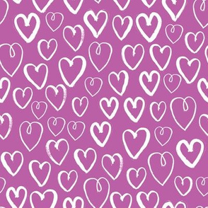 hearts // heart love purple hearts cute valentines love fabric love hearts purple hearts pattern