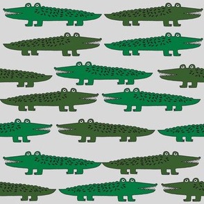 alligator // green grey alligators fabric reptiles crocodiles design gator reptile boys nursery print andrea lauren andrea lauren fabric