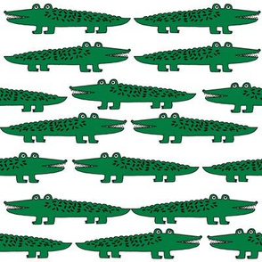 alligators // alligator crocodile fabric print pattern andrea lauren illustration andrea lauren fabric boys nursery print crocodiles fabric