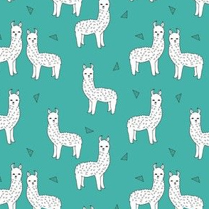 alpaca // teal alpacas cute llamas baby nursery cute design baby nursery fabric alpacas llamas