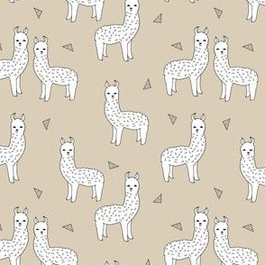 alpaca // neutral khaki llama fabric cute alpaca design andrea lauren fabric baby nursery print pattern llama nursery cute andrea lauren design fabrics