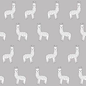 alpaca // grey alpacas cute alpaca fabric best llama design print pattern fabric andrea lauren design andrea lauren fabric