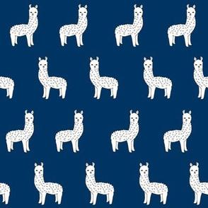 alpaca // navy blue alpaca llama fabric cute navy blue design andrea lauren fabric andrea lauren design alpacas llamas fabric