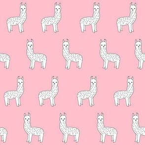 alpaca // pink alpaca fabric cute pink design best llamas fabric print nursery baby pink cute andrea lauren fabric andrea lauren design