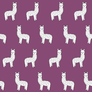 alpaca // purple llama fabric cute alpaca design andrea lauren fabric nursery baby knitting design print pattern illustration