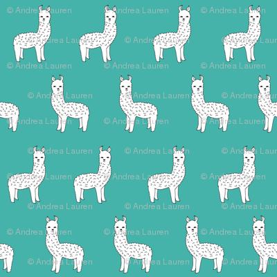 Alpaca Teal Alpacas Cute Llamas Design Andrea Lauren