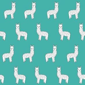 alpaca // teal alpacas cute llamas design andrea lauren fabric cute llamas nursery baby fabrics